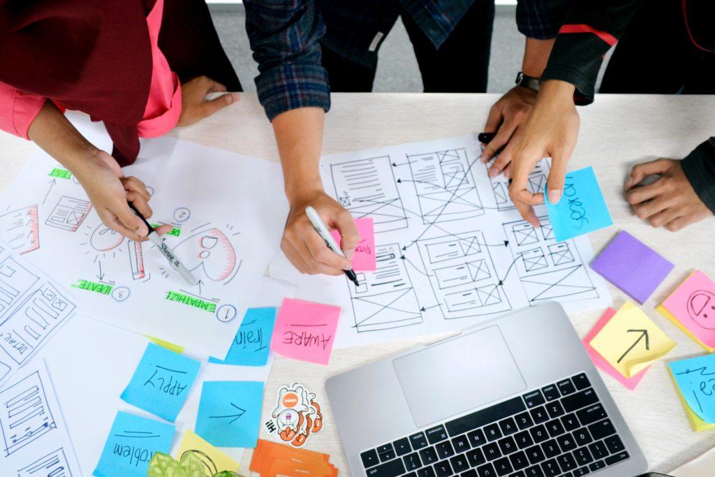 Design Thinking on paper